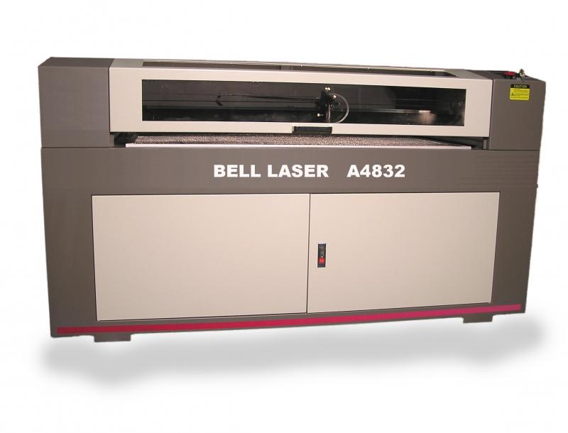 "Laser Cutter Engraver 48"" wide by 32"" deep with material pass-through capability"