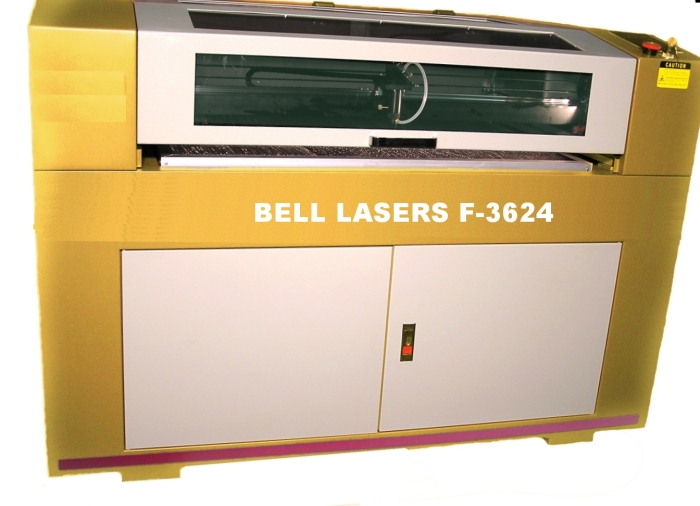 "Fiber Laser Marking Machine with Flying Optic sized 36"" wide x 24"" deep"