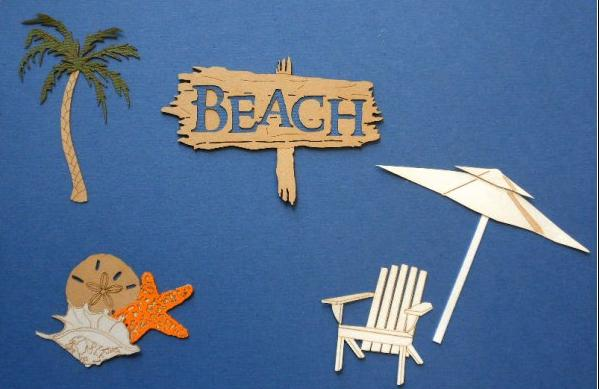 Laser die cut pieces for scrapbooking