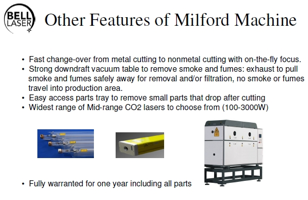 Milford Lasers can Process a Variety of Materials - it's your choice