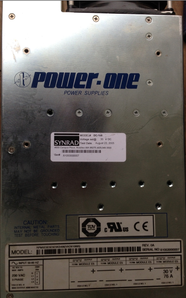 Synrad DC-100 DC Laser Power Supply, fully tested, one year warranty. Power One.