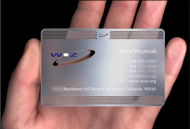 Laser Cut metal business card with direct solvent printing