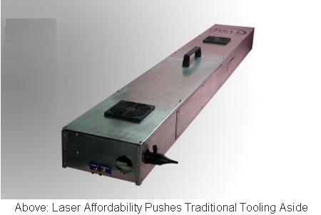 Inline Laser Slitter trims a continuous web as it moves by